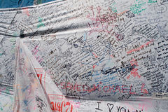 Messages remembering Michael Jackson Royalty Free Stock Image