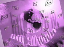 Messages, social networks, email Stock Photo
