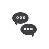 Messages speech bubbles icon vector, filled flat sign, solid pictogram  on white Royalty Free Stock Images