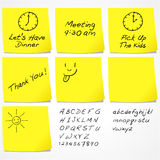 Messages On Sticky Notes Royalty Free Stock Image