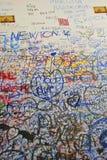 Messages sur le mur dans la Chambre de Juliet Photographie stock