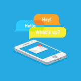 Messages on your phone Royalty Free Stock Images