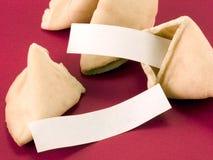 Messaggi in bianco del biscotto di fortuna Fotografia Stock Libera da Diritti