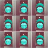 Messaggi di concetto scritti sopra i semafori verdi royalty illustrazione gratis