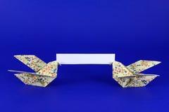 Messaggio 2 di Origami Fotografia Stock