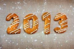 Messaggio 2013 di nuovo anno felice Fotografie Stock Libere da Diritti