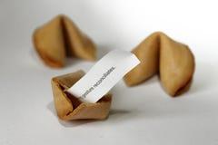 Messaggio cinese della carta del witn dei biscotti di fortuna Fotografia Stock