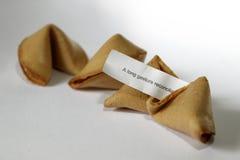 Messaggio cinese della carta del witn dei biscotti di fortuna Fotografie Stock Libere da Diritti