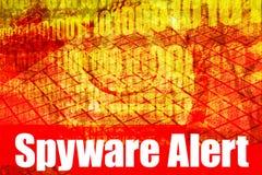 Messaggio d'avvertimento attento dello Spyware Immagini Stock