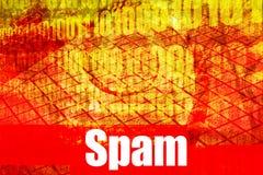 Messaggio d'avvertimento di allarme del email dello Spam Fotografia Stock