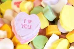 Messaggio dei biglietti di S. Valentino ti amo Immagine Stock Libera da Diritti