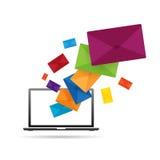Messaggio del computer Fotografia Stock