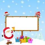 Messaggio del Natale di Santa illustrazione vettoriale