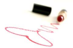 Messaggio del rossetto Fotografia Stock Libera da Diritti