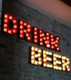Messaggio della birra della bevanda Fotografie Stock