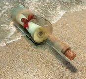 Messaggio della bottiglia Immagini Stock Libere da Diritti
