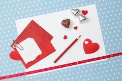 Messaggio di amore di San Valentino, non finito Fotografia Stock