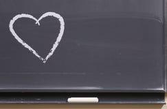 Messaggio di amore sulla scheda Fotografia Stock