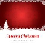 Messaggio di Buon Natale Fotografie Stock
