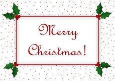 Messaggio di Buon Natale Fotografia Stock Libera da Diritti
