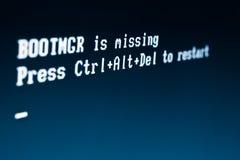 Messaggio di errore del computer Immagine Stock Libera da Diritti