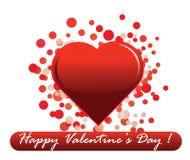 Messaggio di giorno del biglietto di S. Valentino Fotografie Stock Libere da Diritti