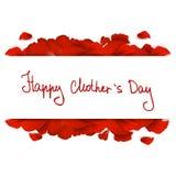 Messaggio di giorno di madri con le rose rosse royalty illustrazione gratis