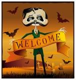 Messaggio di Halloween Fotografie Stock