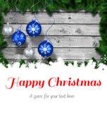 Messaggio di Natale felice Fotografie Stock Libere da Diritti
