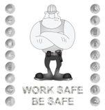 Messaggio di sanità e sicurezza Fotografie Stock