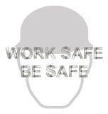 Messaggio di sanità e sicurezza Immagini Stock Libere da Diritti