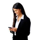 Messaggio di telefono di affari Immagine Stock