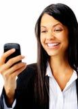 Messaggio di telefono di affari Fotografia Stock