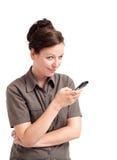 Messaggio di testo digitante della donna Fotografia Stock Libera da Diritti