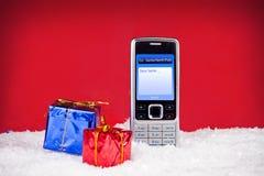 Messaggio di testo a Santa Fotografie Stock Libere da Diritti