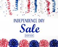 Messaggio di vendita di festa dell'indipendenza immagine stock libera da diritti