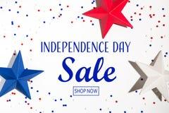Messaggio di vendita di festa dell'indipendenza fotografia stock libera da diritti