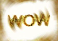 Messaggio di wow Fotografie Stock