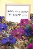 Messaggio domestico benvenuto Fotografie Stock