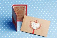 Messaggio fatto a mano di amore di San Valentino Immagini Stock Libere da Diritti