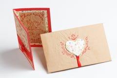 Messaggio fatto a mano di amore di San Valentino Immagine Stock