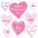 Messaggio felice di amore di giorno di biglietti di S. Valentino Immagini Stock Libere da Diritti
