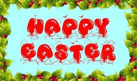 Messaggio felice di Pasqua Immagine Stock