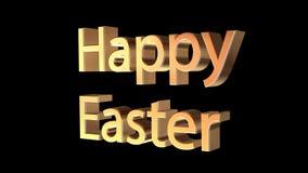 Messaggio felice di Pasqua su fondo nero Fotografia Stock Libera da Diritti