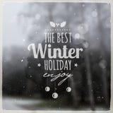 Messaggio grafico creativo per progettazione di inverno Fotografie Stock Libere da Diritti