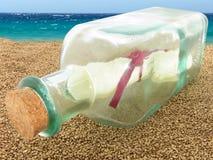 Messaggio nella bottiglia Fotografie Stock
