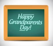 Messaggio scritto giorno felice dei nonni Fotografia Stock