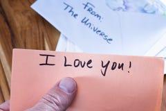 Messaggio spirituale nella posta Fotografia Stock