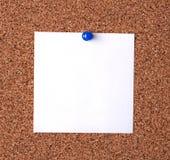 Messaggio sulla scheda del sughero Immagine Stock