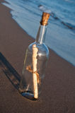 Messaggio in una bottiglia Fotografia Stock